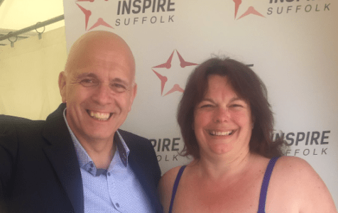Recent Suffolk Chamber President raises £1200 for Inspire Suffolk