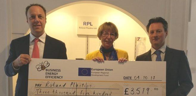 Bee Anglia Grant Helps Roland Plastics Cut Lighting Costs