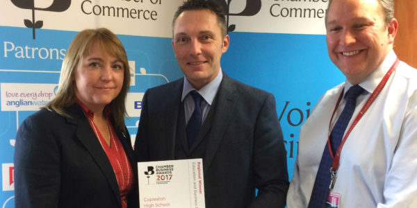 Copleston wins British Chambers of Commerce regional award