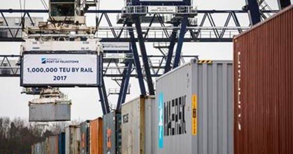 Port of Felixstowe Handles 1 million TEU by Rail