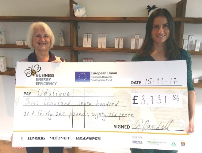 Award-winning Mildenhall SME uses grant to cut energy costs