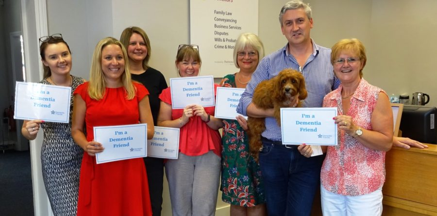 Bury Law Firm Pledges Dementia Friendly Training for All Staff