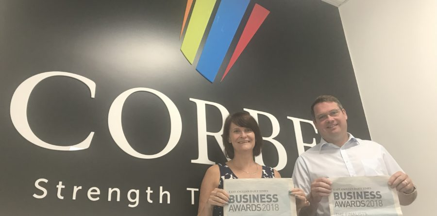 Corbel shortlisted for the Innovation Award at the Suffolk Business Awards