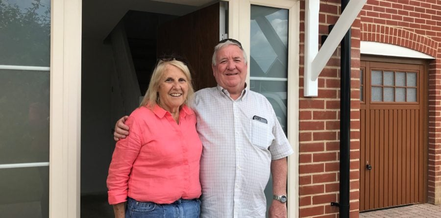 First homeowners pick up keys to Flagship's new Suffolk homes