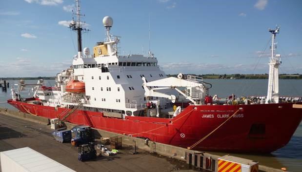 Polar Research Ships dock at Harwich International