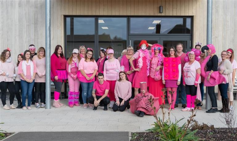 Christies Care Staff Wear it Pink for Breast Cancer Charities