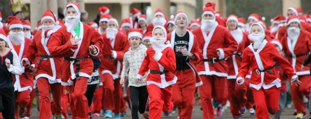 Christmas Santa run for Children's Charity